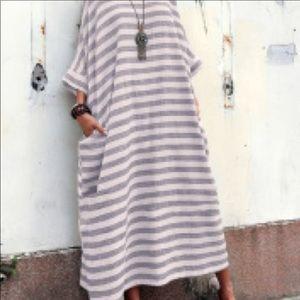 Oversized Striped Kaftan